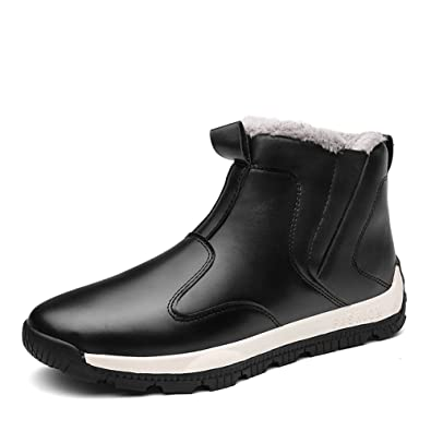 Mens Snow Boots Ankle Outdoor Winter Fur Lined Warm Sneaker High Top  Walking Shoes Plus Size 4c3fd383a