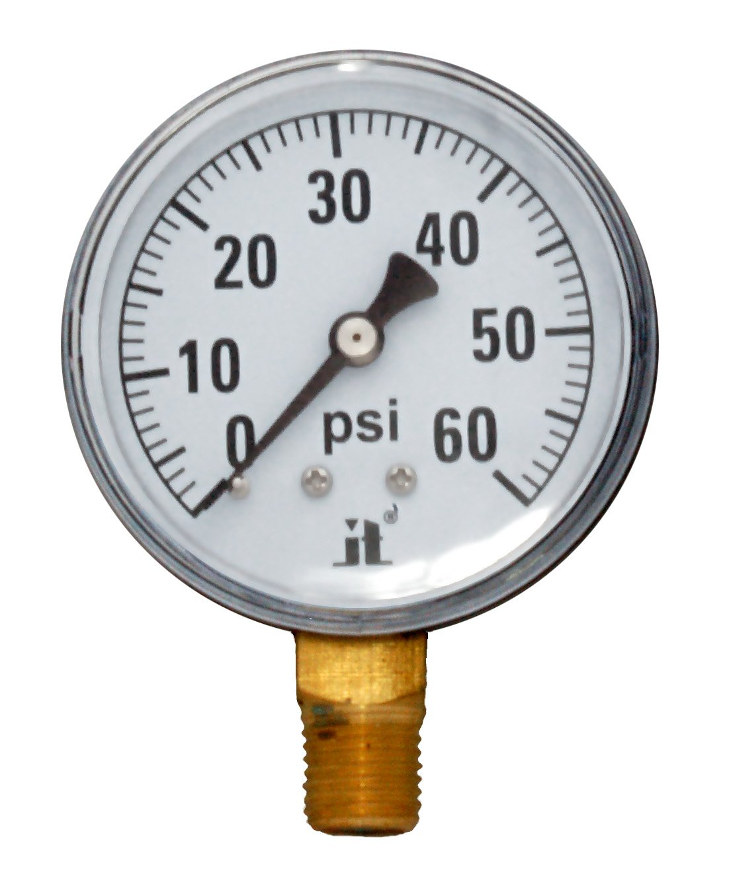 Zenport Zen-Tek Dry Air Pressure Gauge 500 PSI Pack De 10