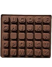 Laileya Herramienta para Hornear de Silicona Modelo práctica de Molde 26 Inglés Carta de Silicona del Molde del Chocolate de Bricolaje jabón Hecho a Mano del Enrejado del Hielo