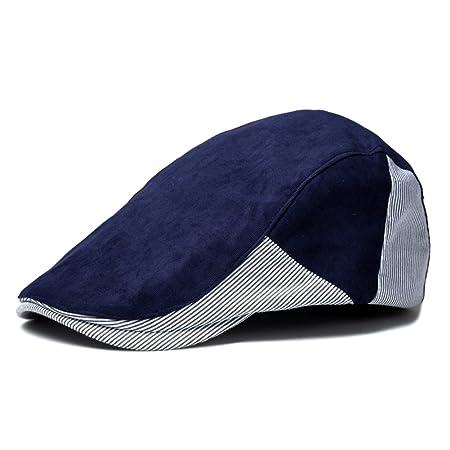 Scrox 1x Hombre Mujer Sombreros Gorras Boinas Moda Clásico Raya ...
