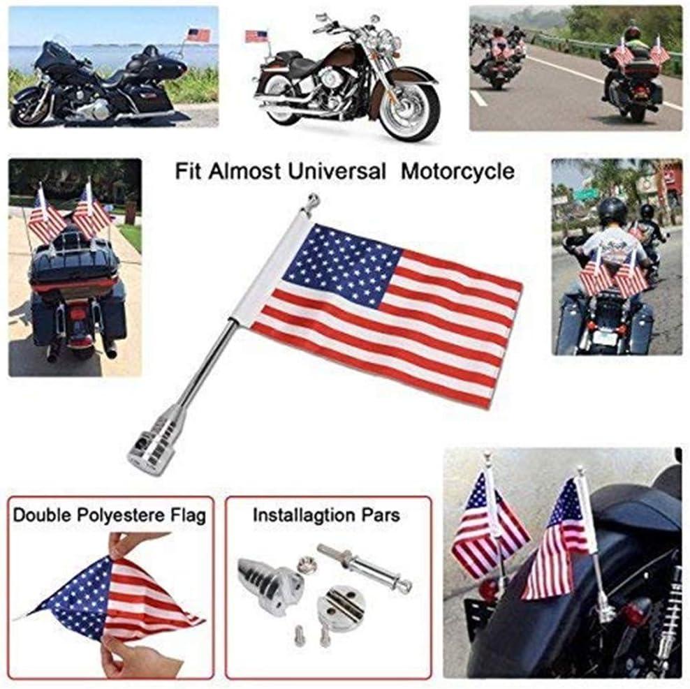 Jade Motorcycle Flag Pole Mount 6x9 American Flag Eagle for Honda Goldwing CB VTX CBR Yamaha