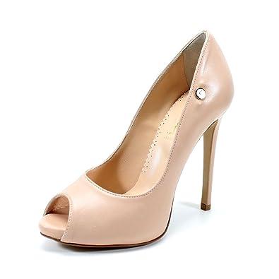 51e51950fa12f Handamade Italian Women's Shoes Heels Open Toe decolletè Powder Pink ...