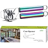 Berglander Can Opener, Stainless Steel Rainbow Handle Can Opener, Titainium Colorful Plating Handle Can Opener Hand Held, Smo