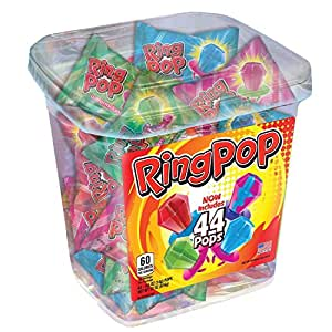Ring Pop Candy Jar, Assorted Flavors (44 ct.)