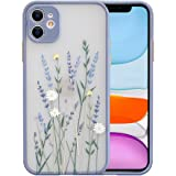 Ownest Compatible with iPhone 11 Case for Clear Flowers Pattern Frosted PC Back 3D Floral Girls Woman and Soft TPU Bumper Pro