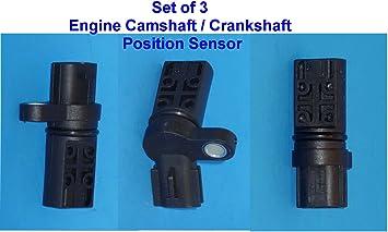 For Infiniti Nissan Camshaft Crankshaft Cam Crank Position Sensor New Set of 3