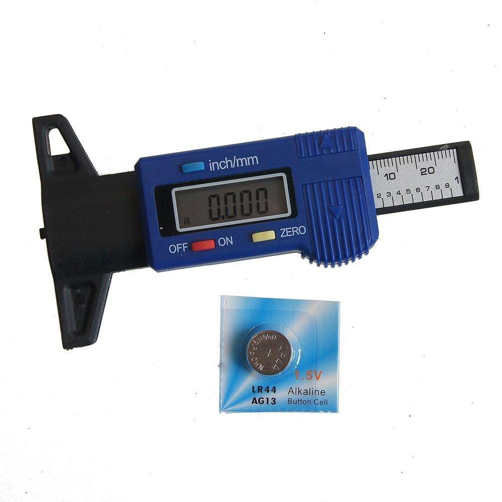 Katsu Misuratore di profondità per pneumatici, in fibra di carbonio, elettronico, digitale, modello 40141563