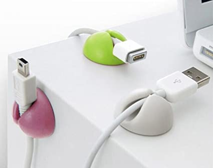 6 pieza multicolor Cable Soporte de cables mesa para escritorio ...