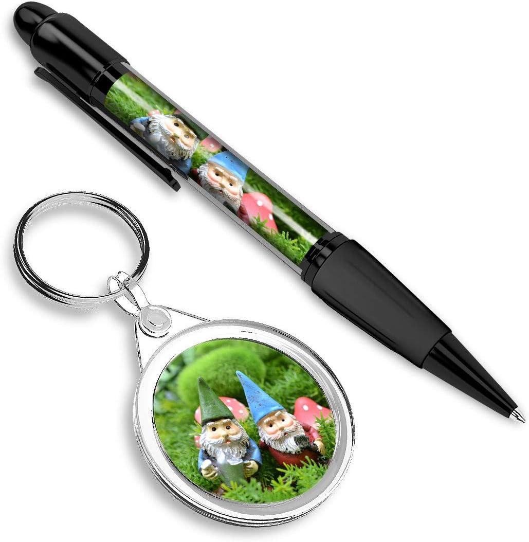 rond pour les cl/és nain de jardin dr/ôle #14596 Beau stylo confortable avec une image et un porte-cl/és /él/égant