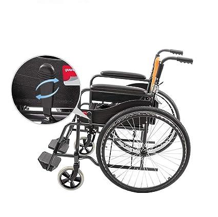 JAKROO Silla de Ruedas médica - Asiento de Aluminio Plegable, Carro para discapacitados, Coche