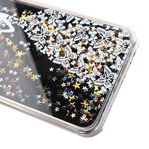 iPhone 6S Hülle Silicone,iPhone 6S Hülle Glitzer,iPhone 6 Hülle Rosa,EMAXELERS iPhone 6S Hülle Bling TPU Bumper Case Soft Silikon Gel Schutzhülle Hülle für iPhone 6 4.7 Zoll,iPhone 6S Hülle Glitzer Di D Black Liquid 1
