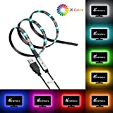 Vansky Bias Blacklight Strip for HDTV USB LED Multi Color RGB Lights Neon Accent Lighting Kit for Flat Screen TV LCD, Desktop PC (Reduce eye fatigue and increase image clarity)