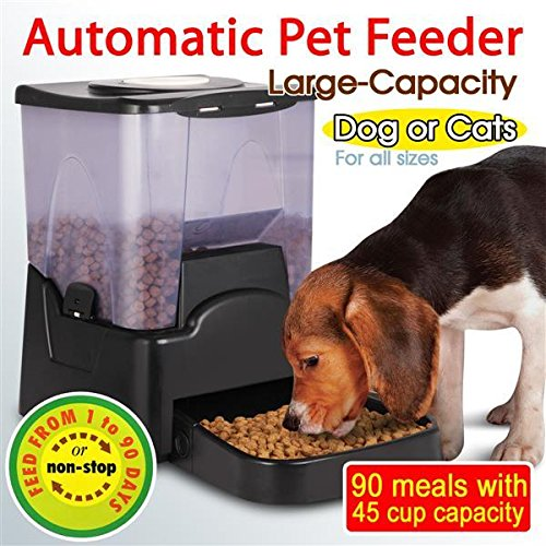 Gotobuy Automatic Timer Programmable Dog Feeder for Large to Small Dogs (Small Dog Feeder With Timer compare prices)