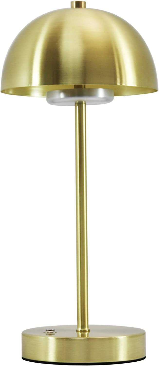 Metal LED Desk Lamp Monkey Sun Table Lamp with Brass Shade for Study Reading Bedroom Bedside Living Room, Dimmable Office Lamp 3 Lighting Modes, Touch Control Brightness, 9W, Iron Gold Color (Copper)