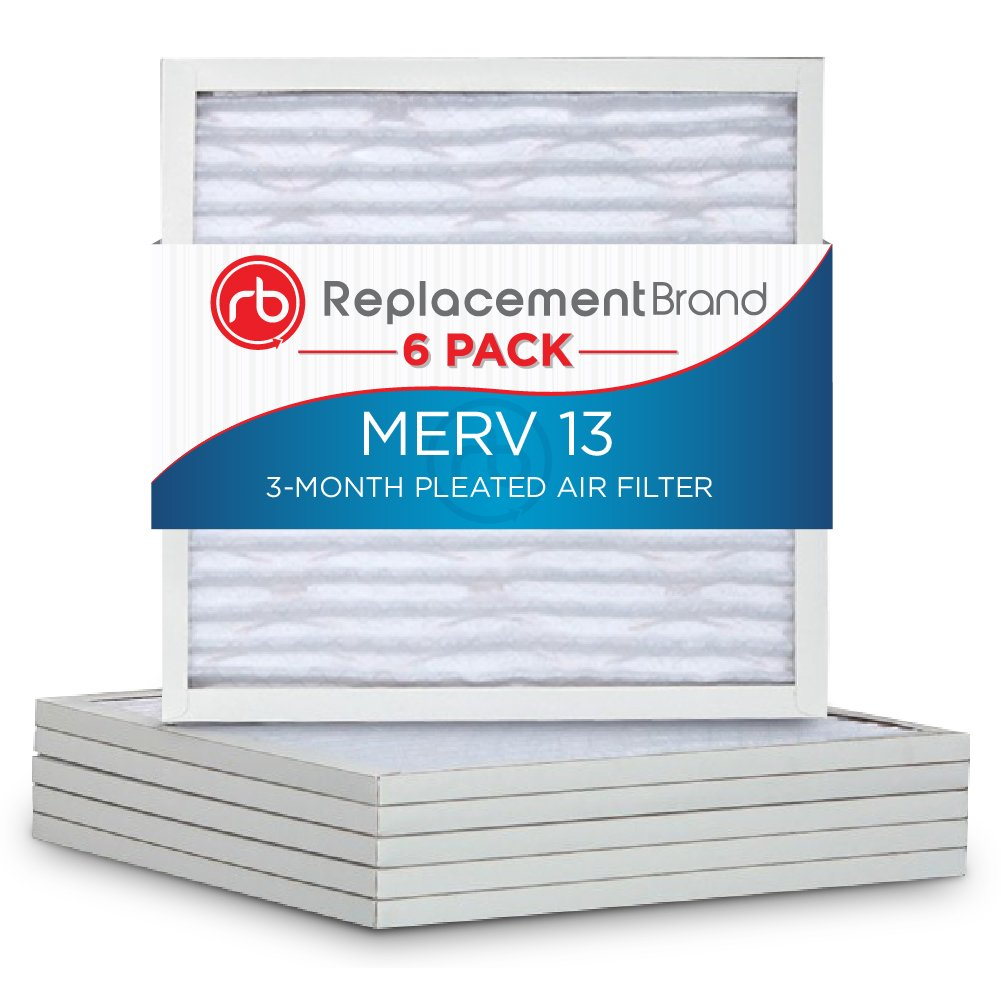 ReplacementBrand RB-P25S-611414 Air Filter, MERV 13, 14' Length x 14' Height x 1' Thickness (Pack of 6) 14 Length x 14 Height x 1 Thickness (Pack of 6) RB_P25S_611414_6_PACK