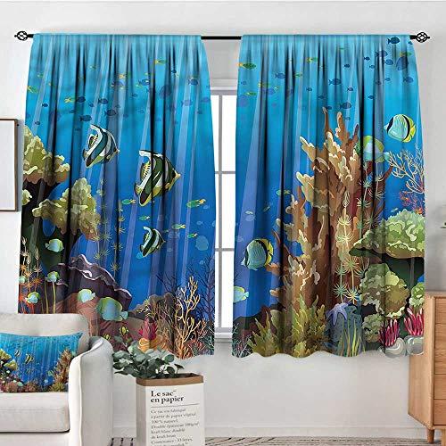 Sanring Marine,Rod Pocket Indo Curtain Underwater Creatures 72