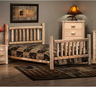 product image for Lakeland Mills Rustic Appeal Low Bed, Twin in Unfinished ,