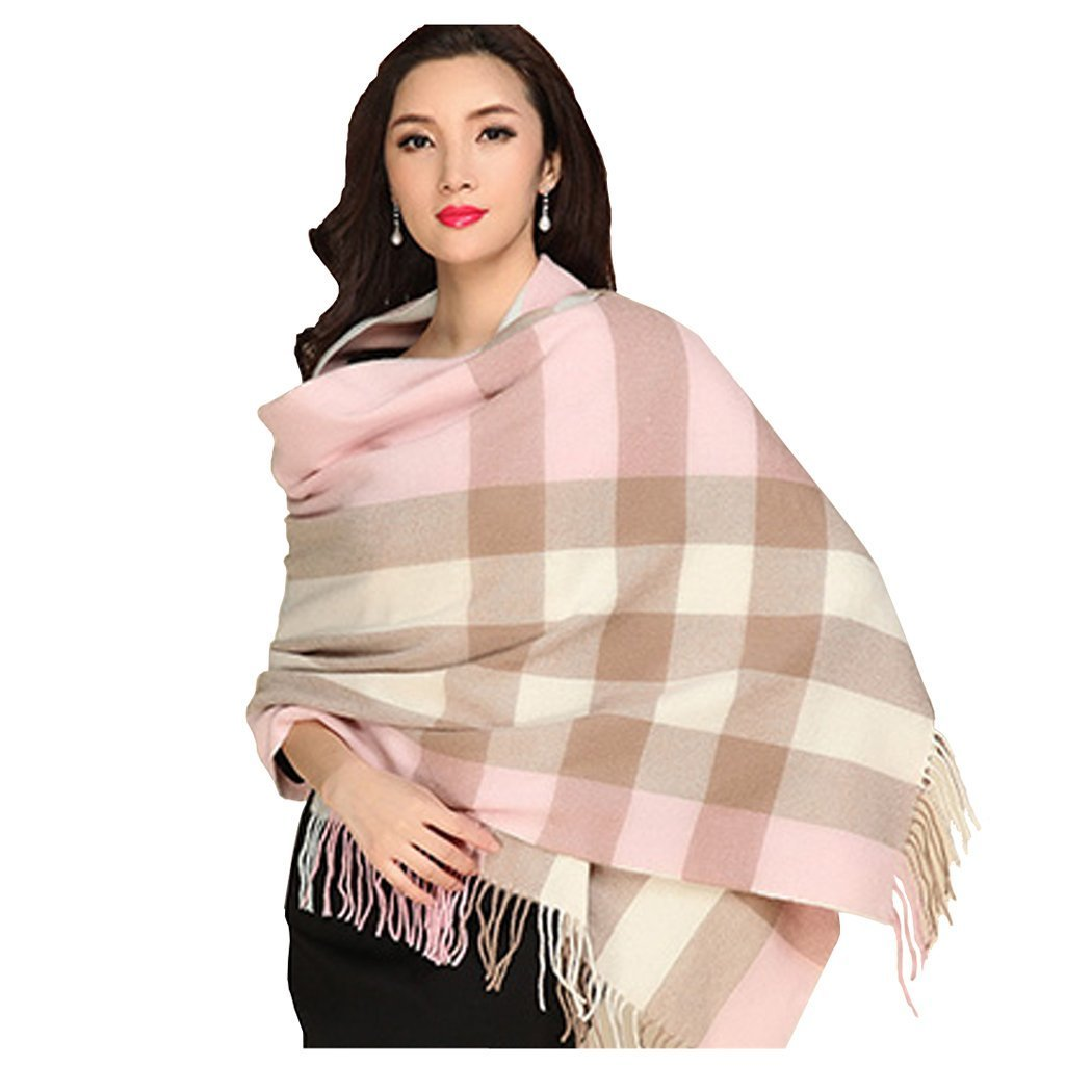 UNISI Large Soft Silky Pashmina Twill Shawl Ladies Wrap Women Scarf in Solid Colors