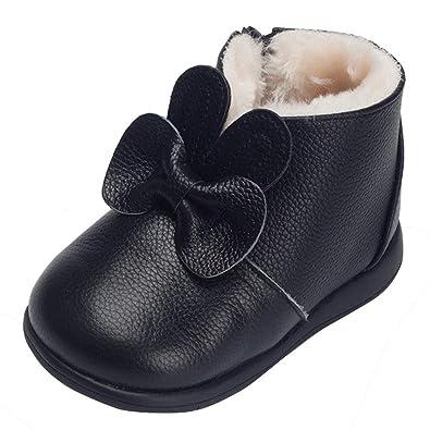 363549bae3ba8 Cloud kids Chaussure De Coton Bambin Nœud Papillon Premier Pas Chaussure  Tout-Petit Fermeture Éclair