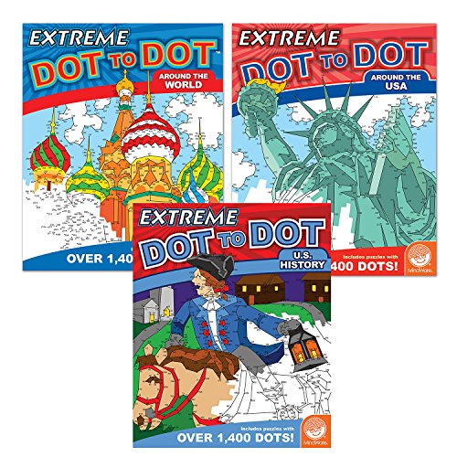 MindWare Extreme Dot to Dot: People & Places Set of 3 -