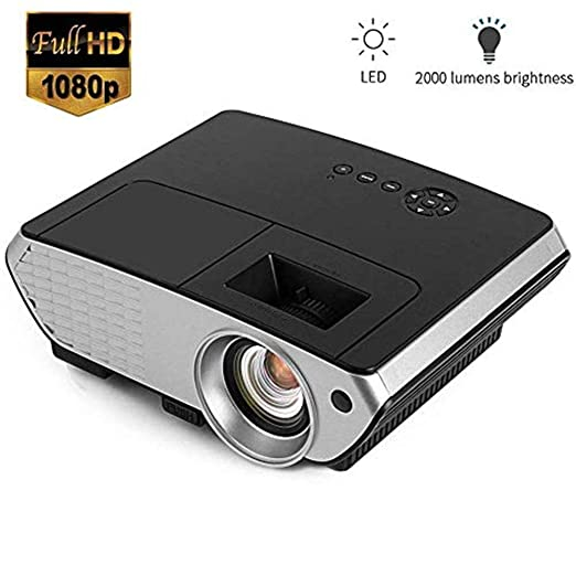 MNJR Proyector Home Video Projector, Multimedia HD 1080P Rojo Azul ...