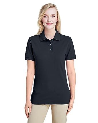 70afd151 Jerzees Ladies' 6.5 oz. Premium 100% Ringspun Cotton Piqué Polo, Black,
