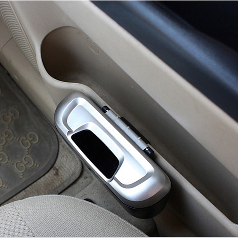 plata + negro WINOMO Mini basura para papelera para Universal de viaje port/átil coche veh/ículo