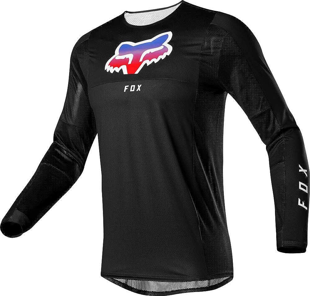 Black - L 24859-001 Fox Mens Airline Pilr Long Sleeve Bike Jersey Black
