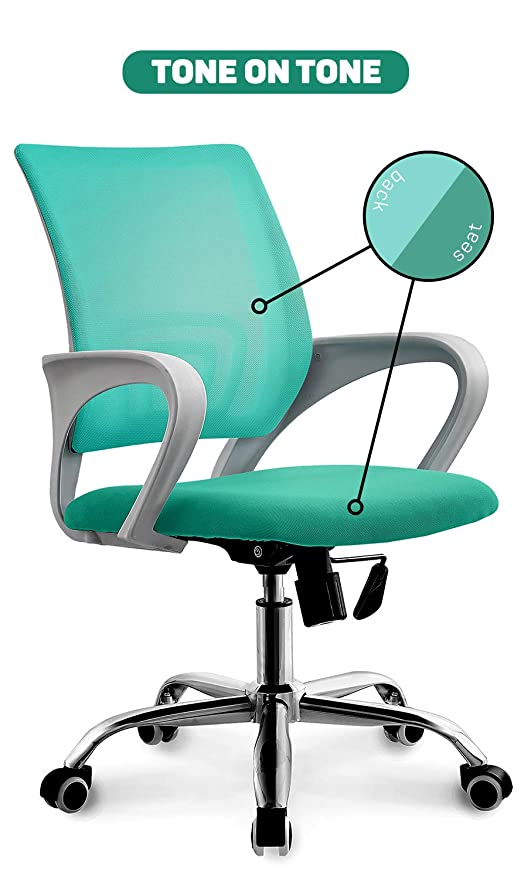 Swell Neo Chair Modern Solid White Frame Premium Mesh Office Computer Desk Chair Durable Armrests Ergonomic Lumbar Support Adjustable Swivel Mid Back Tilt Unemploymentrelief Wooden Chair Designs For Living Room Unemploymentrelieforg