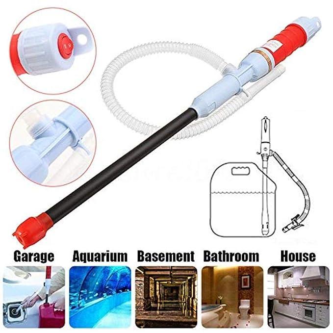 GRASSAIR Agua eléctrica Turbo Bomba líquido Transferencia de Aceite de Gas con Seguridad sifón Bombas con Pilas 2 * D baterías (no Incluidas): Amazon.es: ...