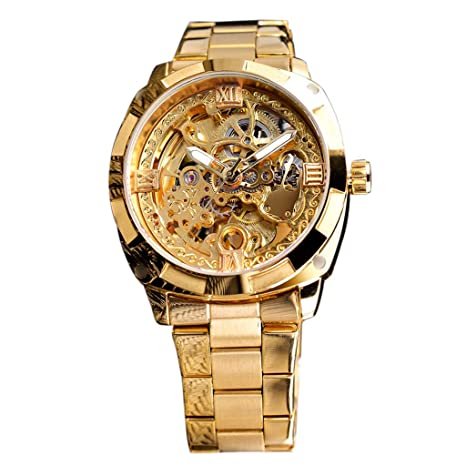 XBKPLO Quartz Watches Mens Luxury Transparent Dial Waterproof Automatic Winding Mechanical Watches Multifunction Temperament