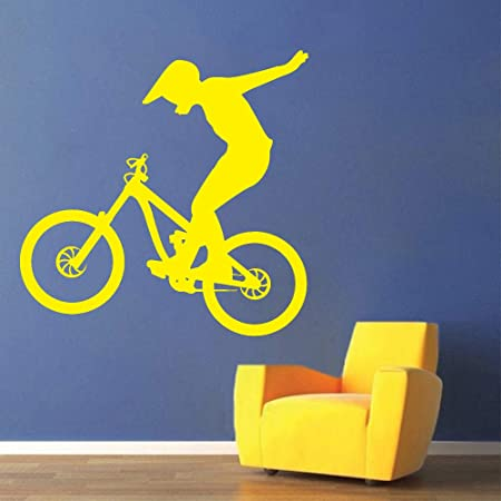 zhuziji Moto Vinilo Tatuajes de Pared Bicicleta Bicicleta Deporte ...