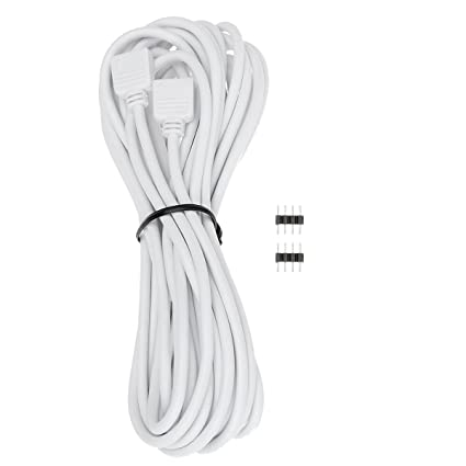 Amazon.com: EPBOWPT 5M 16.4ft 4Pin RGB LED Extension Cable Wire ...
