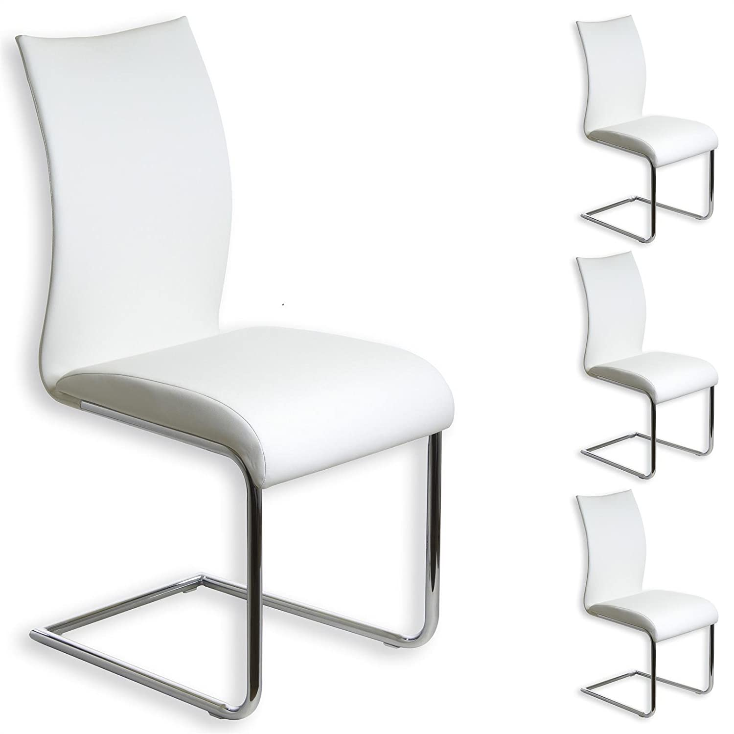 Lot de 4 chaises ALADINO - blanc
