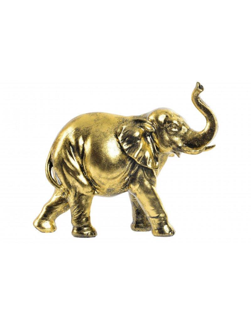 Hogar y Mas Casa e più - Elefante-Lucido Dorato e resina