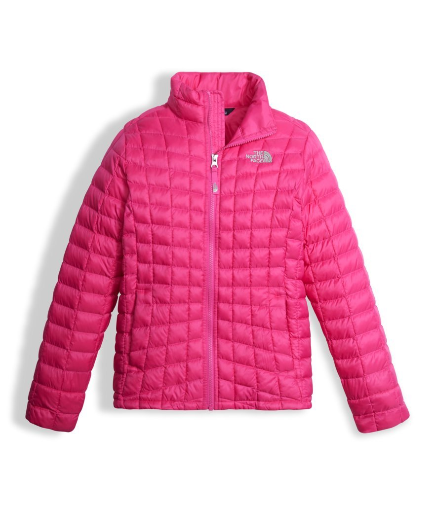 The North Face Girl's Thermoball Full Zip Jacket Petticoat Pink (X-Large)