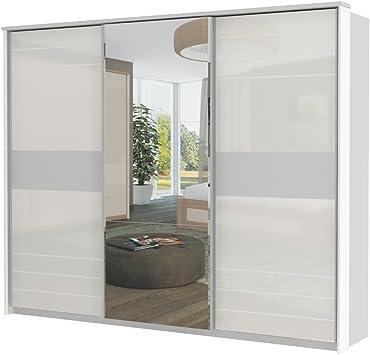 armario armario de puertas correderas Lepa 08, color: blanco – Dimensiones: 225 x 278 x 64 cm (H x B x T): Amazon.es: Bricolaje y herramientas