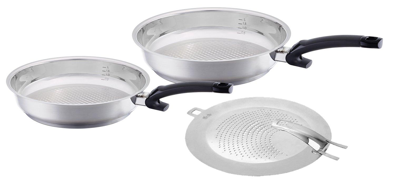Fissler Steelux Comfort 10, 12'' Fry Pan with Splatter Shield Set