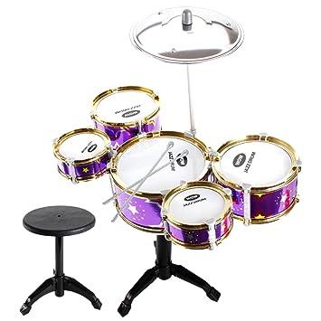 Amazon Com Baoblaze Mini Jazz Band Drum Kits Percussion Instruments