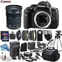 Canon EOS T6i Digital SLR Camera Body Bundle with EF 24-105mm f/3.5-5.6 IS STM Lens & eDigitalUSA Premium Kit - International Version