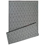 DII Contemporary Indoor/Outdoor Lightweight Reversible Fade Resistant Area Rug, Great For Patio, Deck, Backyard, Picnic, Beach, Camping, BBQ, 4 x 6', Black Diamond