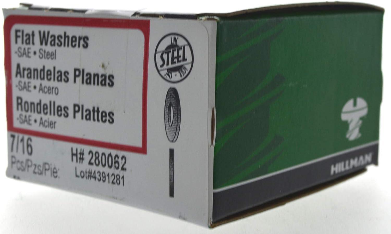 die Hillman Group 280062 7/16-Inch Flat Washer, 50-Pack