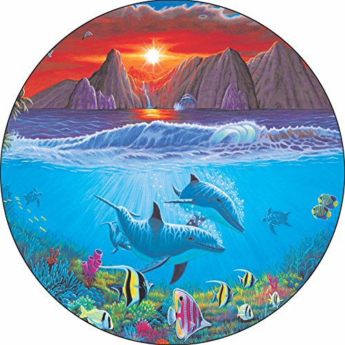 Dolphin #4 Friends of the Sea Tire Cover for Jeep RV Camper VW Trailer etc(Select popular sizes from drop down menu or contact us-ALL SIZES AVAILABLE)