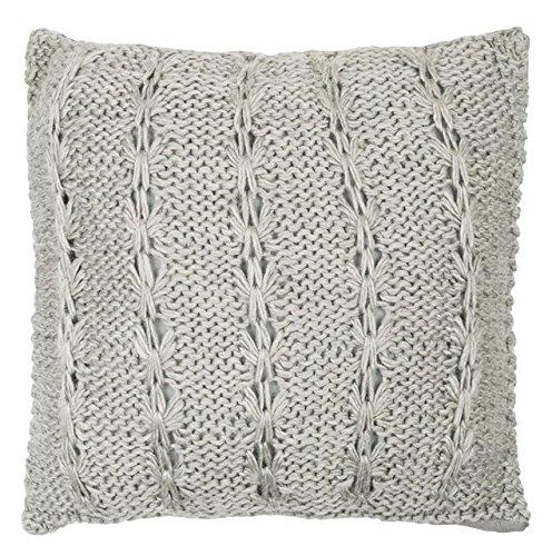 Cojín lana, color gris claro, 50 x 50 cm, color gris: Amazon ...
