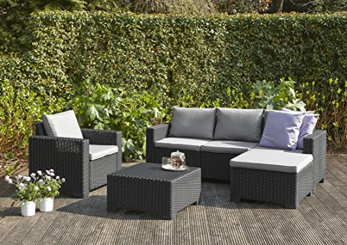 Lieblich Cheap Amazonde Allibert Lounge Set Garten Moorea Grau Teiliges Lounge Set  In Rattanoptik Bequeme Lounge Balkonmbel With Allibert Gartenmbel With  Allibert ...