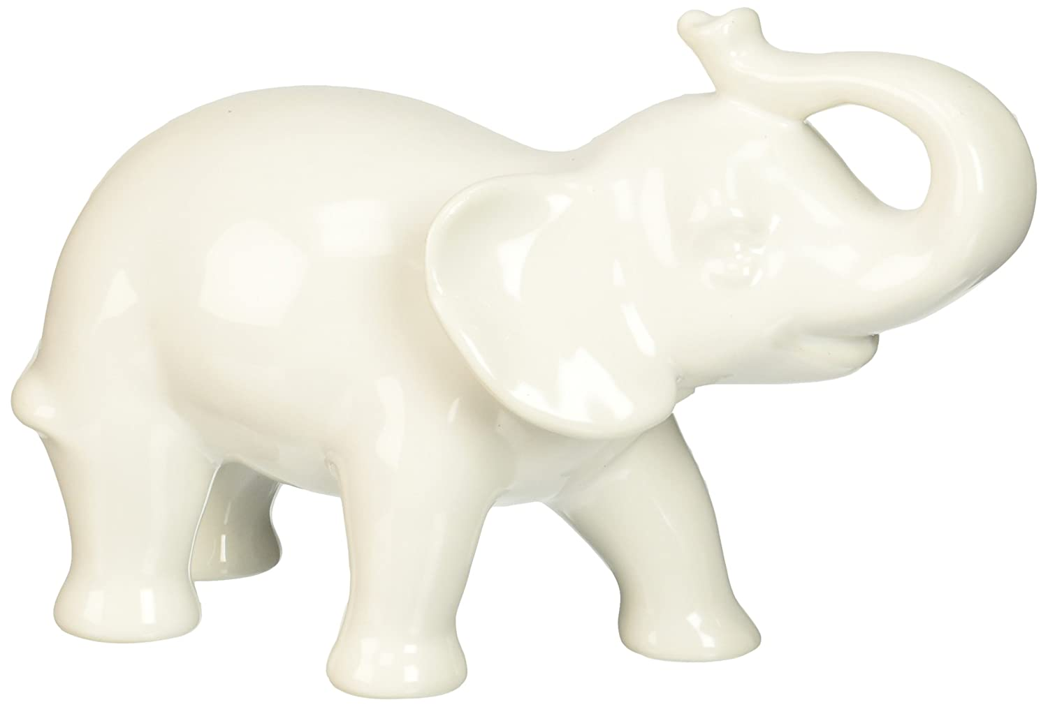 Amazon.com: Abbott Collection Ceramic Elephant Figurine, White ...