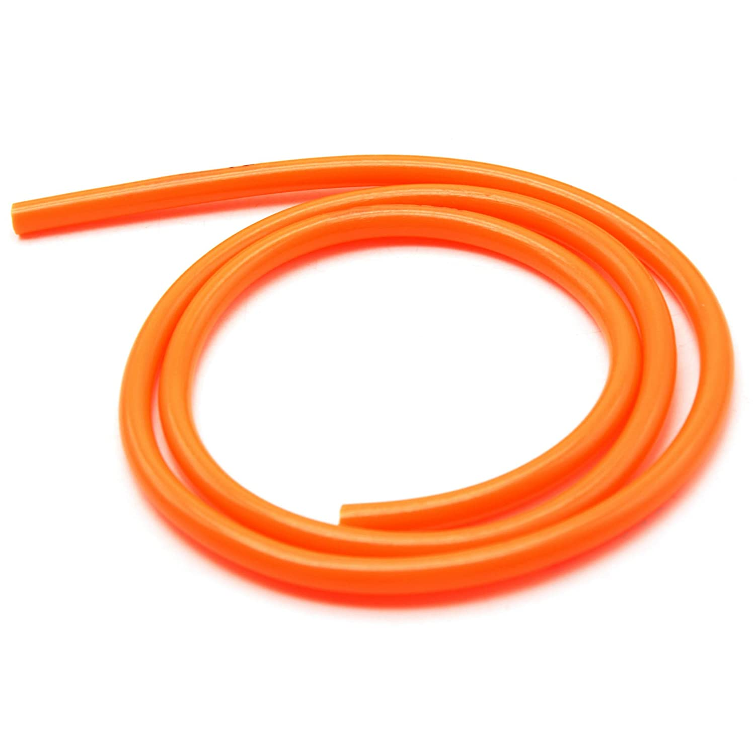 WSERE 2 Pack 1M Motorcycle Bike Fuel Gas Oil Delivery Tube Hose Pipe 5mm ID 8mm OD White