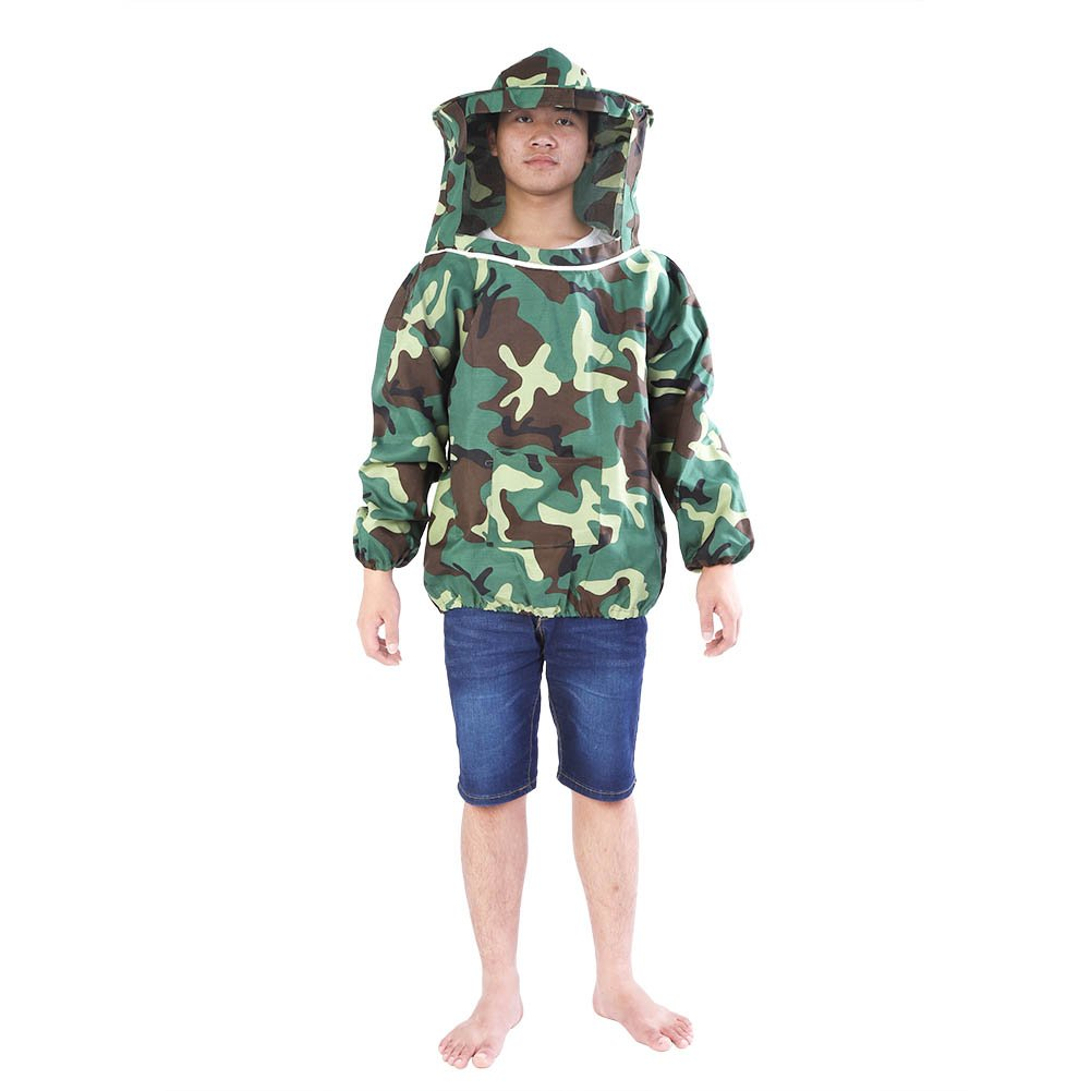 Giacca apicoltore con cappuccio con cappuccio, giacca professionale apicoltore ventilato per equipaggiamento protettivo uomo/donna Haofy