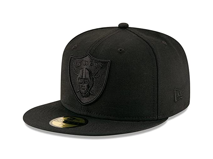 low priced 35840 c40de Image Unavailable. Image not available for. Colour  New Era 9Fifty Hat  Oakland Raiders BOB Black Black Snapback Headwear Cap