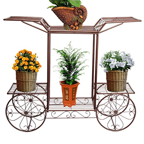 Gold Metal Plant Stand - 2